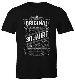 Herren Geschenk T-Shirt Geburtstag Original Vintage 30-80 Jahre Moonworks®