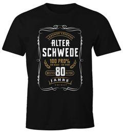 Herren Geschenk T-Shirt Geburtstag Lebende Legende Alter Schwede 30-80 Jahre Moonworks®