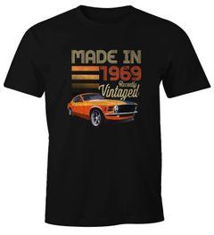 Herren T-Shirt Geburtstag Retro Vintage Oldtimer siebziger 70er Auto Fun-Shirt Moonworks®