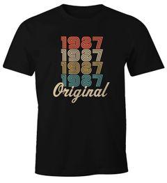 Moonworks® Herren T-Shirt Vintage Retro Original personalisierbares T-Shirt zum Geburtstag mit Jahreszahl Geschenk
