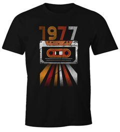 Herren T-Shirt Geburtstag Retro 70er Jahre Vintage Siebziger Geschenk-Shirt Moonworks®
