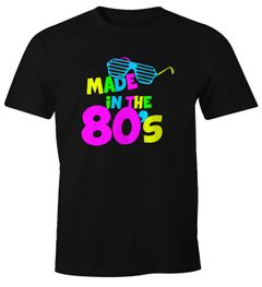 Herren T-Shirt Geburtstag Made in the 80's Retro Eighties Achtziger Geschenk Fun-Shirt Moonworks®