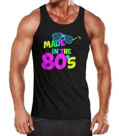 Herren Tanktop Geburtstag Made in the 80's Retro Eighties Achtziger Geschenk Fun-Shirt Moonworks®