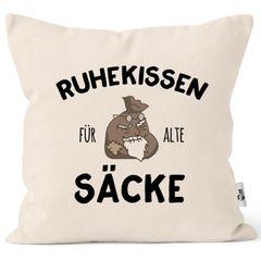 Kissen-Bezug Ruhekissen für alte Säcke Geschenk lustig Kissen-Hülle Deko-Kissen Baumwolle MoonWorks®