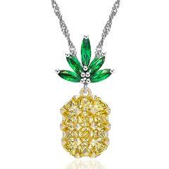 Damen Halskette Ananas Anhänger Zirkonia Kristall Autiga®