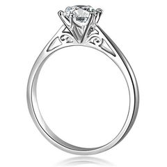 Damenring Zirkonia Stein Verlobungsring Solitärring Bandring 925 Sterling Silber Autiga®