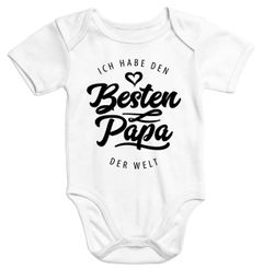 Kurzarm Baby Body Ich habe den besten Papa der Welt Spruch Geschenk Bio-Baumwolle Moonworks®