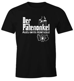 Herren T-Shirt Der Patenonkel Pate Godfather Onkel lustig Fun-Shirt Moonworks®