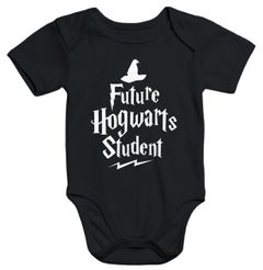 Kurzarm Baby Body HP Hogwarts Future Student  Jungen Mädchen Onesie Bodyshirt Moonworks®
