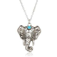 Damen Halskette Elefant Elephant Anhänger Boho Vintage Autiga®