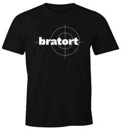 Herren T-Shirt bratort Fun-Shirt Motiv Shirt Parodie Grillen BBQ Barbecue Koch Sommer Foodie Küche Moonworks®