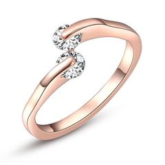 Verlobungsring Zirkonia Kristalle Damen-Ring Solitärring Bandring Autiga®