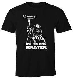 Herren T-Shirt Ich bin dein Brater Fun-Shirt Grillen Barbecue BBQ Fleisch Parodie Nerd Moonworks®