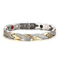 Damen Armband Magnetarmband 4-in-1 Edelstahl Gliederarmband Autiga®