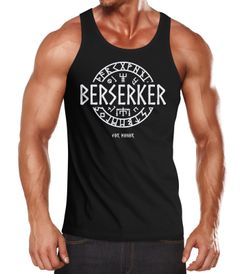 Herren Tanktop Berserker For Honor Wikinger Runen Vikings Mode Fashion Logo-Shirt Moonworks®