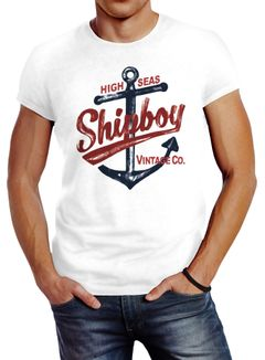 Herren T-Shirt Anker Shipboy Vintage Slim Fit Neverless®
