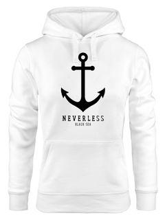 Hoodie Damen Anker Nautical Sailor Segeln Kapuzen-Pullover für Frauen Neverless®