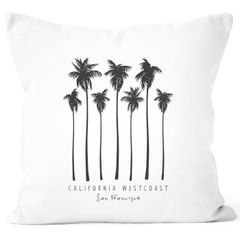 Kissenbezug Palmen California Westcoast Palms Summer Kissen-Hülle Deko-Kissen Autiga®