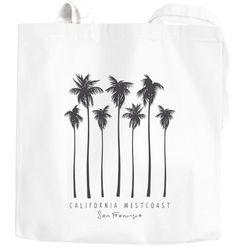 Jutebeutel Palmen California Westcoast Palms Summer Baumwolltasche Stoffbeutel Autiga®