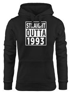 Kapuzen-Pullover Damen personalisierbar Straight Outta Jahrgang Geburtsjahr anpassbar Geschenk Geburtstag Hoodie Moonworks®