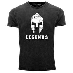 Cooles Angesagtes Herren T-Shirt Sparta Legends Used Look Slim Fit Neverless®