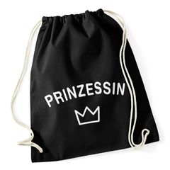 Turnbeutel Prinzessin Krone Princess Jutebeutel Sportbeutel Gymbag Moonworks®