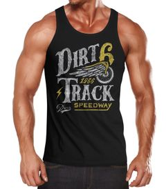 Herren Tank-Top Dirt Track Racing Muskelshirt Muscle Shirt Neverless®