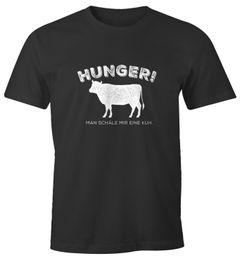 Herren T-Shirt Hunger! Man schäle mir eine Kuh. lustiges Spruch Fun-Shirt Moonworks®