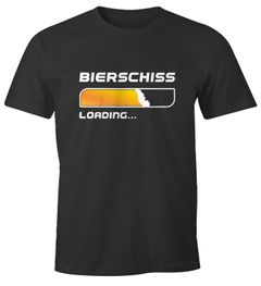 Herren T-Shirt Bierschiss Loading... lustiges Trink Shirt Saufen Bier Party Moonworks®