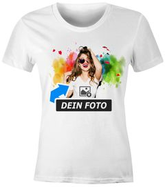 SpecialMe® personalisierbares Damen T-Shirt mit Foto Text, T-Shirt selbst gestalten & bedrucken lassen Foto-Geschenk