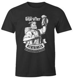 Herren T-Shirt Staatlich geprüfter Biertrinker Party-Shirt Bier-Shirt saufen Moonworks®