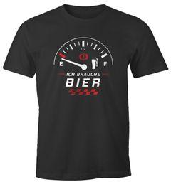 Herren T-Shirt Ich brauche Bier Tankanzeige lustiges Party Shirt Saufen Bier Moonworks®