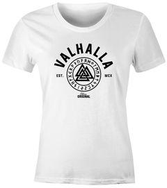 Damen T-Shirt Valhalla Odin Runen Shirt Slim Fit Neverless®