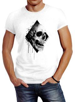 Herren T-Shirt Skull Totenkopf Schädel Slim Fit Neverless®