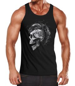 Herren Tank-Top Punk Mohawk Skull Irokese Muskelshirt Muscle Shirt Neverless®