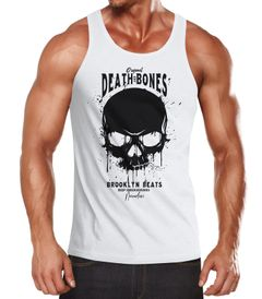 Herren Tank-Top Skull Death and Bones Totenkopf Club Outfit Muskelshirt Muscle Shirt Neverless®