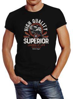 Herren T-Shirt Fashion vintage Print Superior Legends of Life Eagle Slim Fit Neverless®