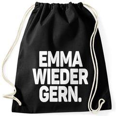 Turnbeutel Spruch lustig Emma wieder gern Stoffbeutel Gymbag Drogen Drugs Moonworks®