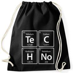 Turnbeutel Techno  Periodensystem chemische Elemente Feiern Party Rave Moonworks®