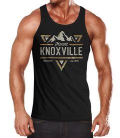 Herren Tank-Top Mountain Berge Adventure Emblem Retro Design Mount Knoxville Fashion Streetstyle Muskelshirt Muscle Shirt Neverless®
