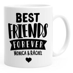 Best Friends Forever 2 BFF Beste Freundin personalisierte Kaffee-Tasse mit Namen persönliche Geschenke SpecialMe®