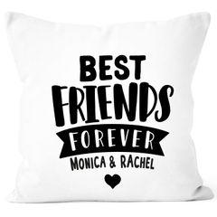 Kissen-Bezug Best Friends Forever BFF Kissen-Hülle mit Namen Baumwolle personalisierte Geschenke Dekokissen SpecialMe®