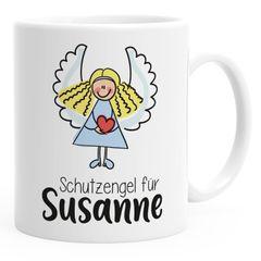 SpecialMe® Kinder-Tasse Kunststoff Schutzengel personalisierte Namenstasse für Kinder Jungen Mädchen