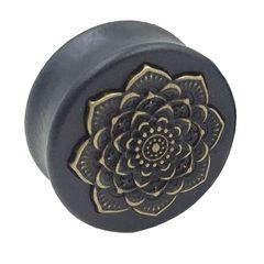 Holz Plug Flesh Tunnel Lotus Blüte Blume Wood Ear Plug Saddle Fit Organic Autiga®