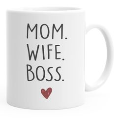 Kaffee-Tasse Mom Wife Boss Dad Husband Legend Geschenk Mama Papa Moonworks®