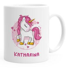 Namenstasse personalisierte Kaffee-Tasse mit Namen und Einhorn Motiv persönliche Geschenke SpecialMe®