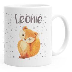 Namenstasse Fuchs Füchsin personalisierte Kaffee-Tasse mit Namen persönliche Geschenke Frauen Mädchen SpecialMe®