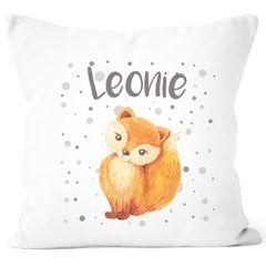 SpecialMe® Kissen-Bezug mit Namen Fuch Füchsin Kissen-Hülle Namenskissen Baumwolle personalisierte Geschenke Dekokissen