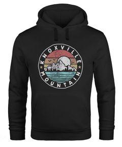 Hoodie Herren Knoxville Mountain Logo Adventure Vintage Emblem Berge Kapuzen-Pullover Männer Neverless®