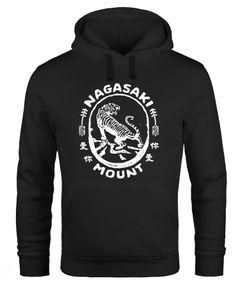 Hoodie Herren Tiger Aufdruck Japan Schriftzeichen Nagasaki Mount Schriftzug Kapuzen-Pullover Männer Neverless®